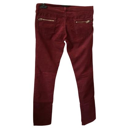 Isabel Marant Etoile Isabel Marant Red Velvet Jeans T.1