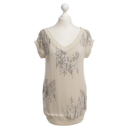 Twin-Set Simona Barbieri top with sequin trim