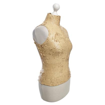 Donna Karan top with sequins