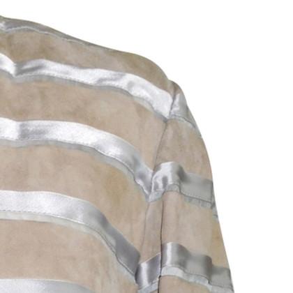 Giorgio Armani  Jacke mit Seide Streifen
