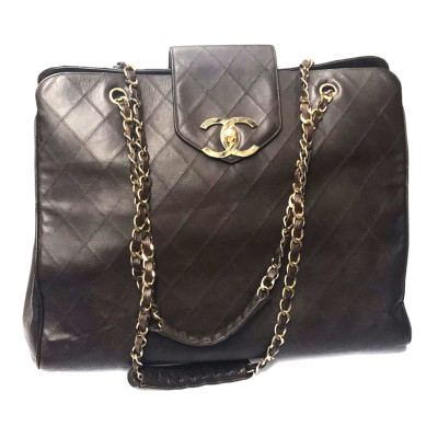 Chanel Overnight Brown Leather Hdw Gold