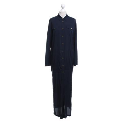 Alexander Wang Blauer Mantel mit Seide