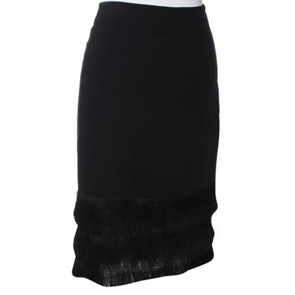 Sandro Black skirt with fringes