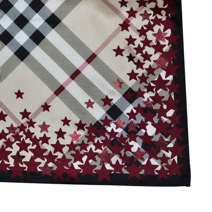 Burberry Silk scarf with star pattern
