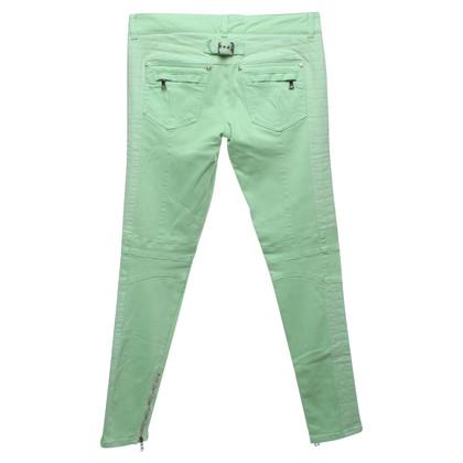 Balmain pantalon motard en vert pâle