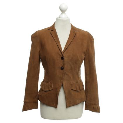 Diane von Furstenberg Suede blazer in bruin