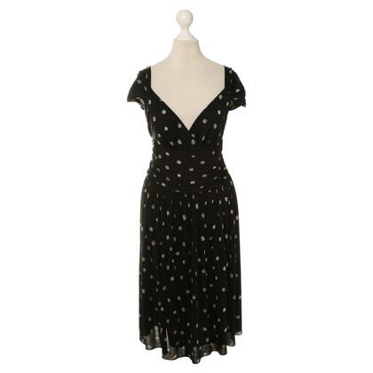 Moschino Schwarzes Kleid mit Musterprint