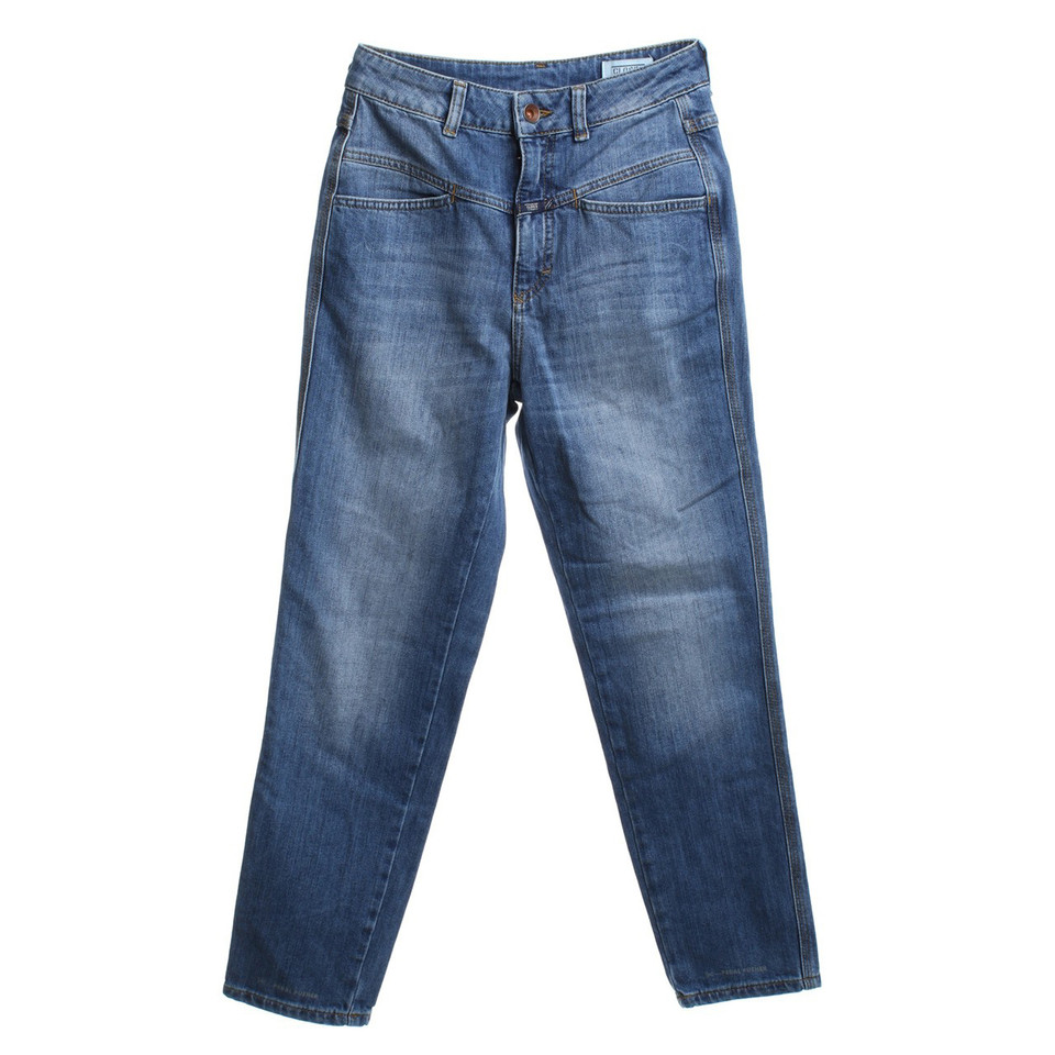Closed High-Waist-Jeans in blue
