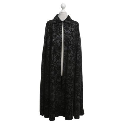Roberto Cavalli Leather Kaap in zwart