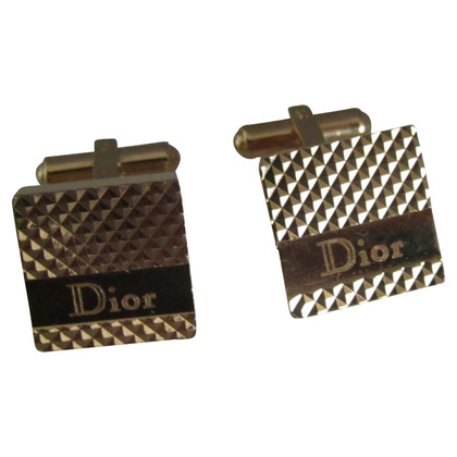 Christian Dior Boutons de manchette couleur or