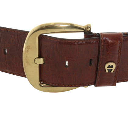 Aigner Belt in Brown