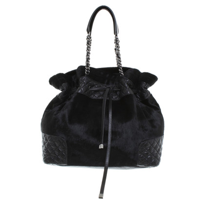 Chanel Borsa con pelliccia nera