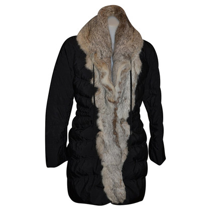 Ermanno Scervino long down jacket with fur