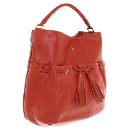 Anya Hindmarch Ledershopper in Orange