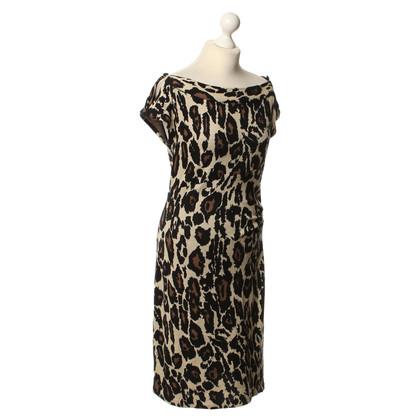 Diane von Furstenberg Strickkleid mit Animalprint
