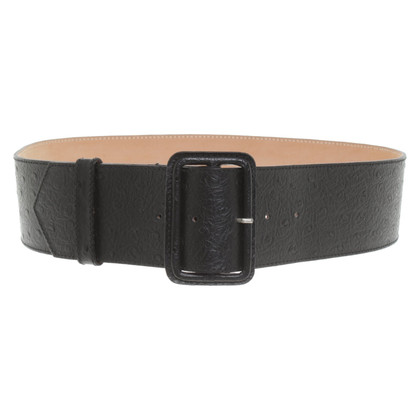 Furla Ostrich leather belt