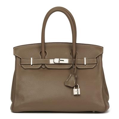 Hermès Birkin Bag 30 Togo Leather Etoupe