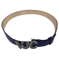 Versace Blue leather belt