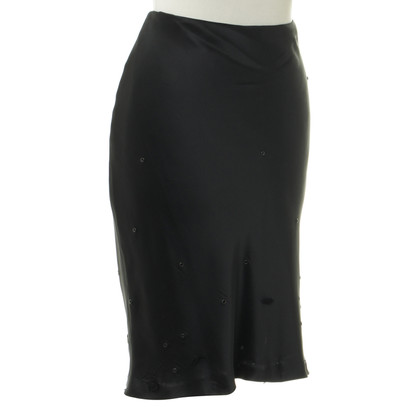 Moschino Cheap and Chic Black skirt with applications