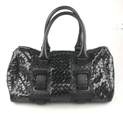Bottega Veneta Patent Intrecciato Shoulder Bag