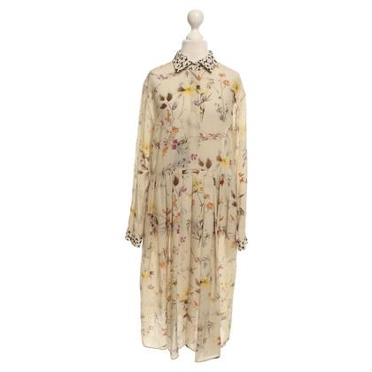 Max Mara zijden jurk in Multicolor