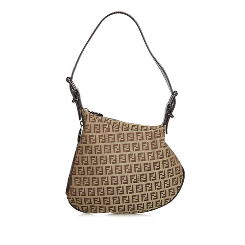 58afee954b47 Fendi Zucchino Oyster Bag - Second Hand Fendi Zucchino Oyster Bag ...