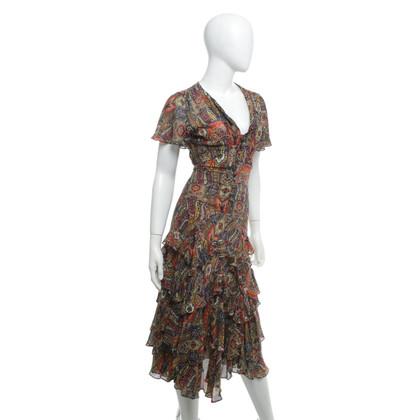 DKNY Silk dress in multicolor