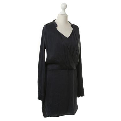 Bruuns Bazaar Donker blauwe omslag jurk