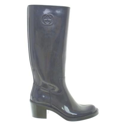 Gucci Rubberen laarzen in grijs