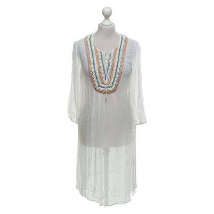 Twin-Set Simona Barbieri Tunic dress with pearls