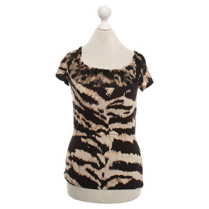 Roberto Cavalli top with graphic pattern