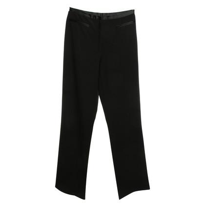 DKNY 7/8 pantaloni in nero