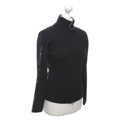 Moschino Cardigan con rifiniture in paillettes