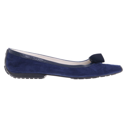 French Sole Ballerinas in Blau