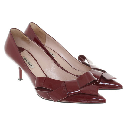 Miu Miu Brevetto pumps in pelle a Bordeaux