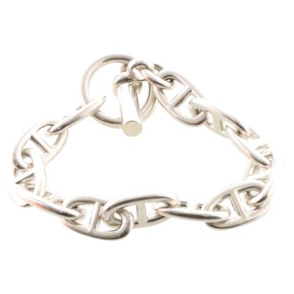 Hermès bracciale a maglie d'argento