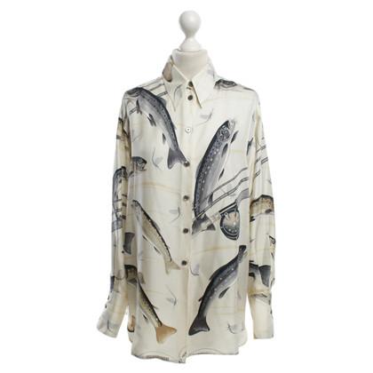 Hermès Silk blouse with print
