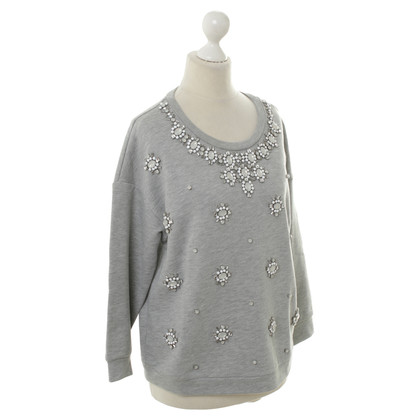 Max Mara Grey sweater with decorative stones