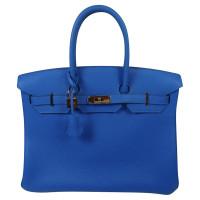 Hermès Borsa Birkin 35 Togo Bleu Hydra