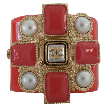 Chanel Bangle with cross & pearls