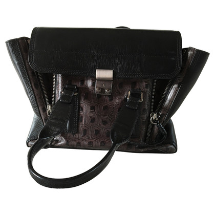 "3.1 Phillip Lim ""Pashli"" Medium Satchel in soft black"
