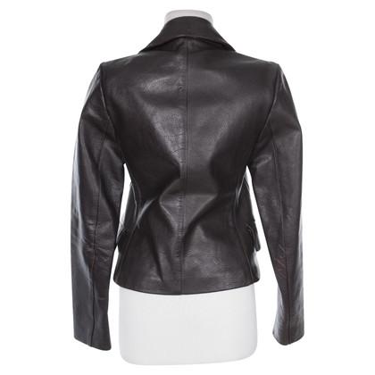 Prada Prada bruine Leren jacket M maat
