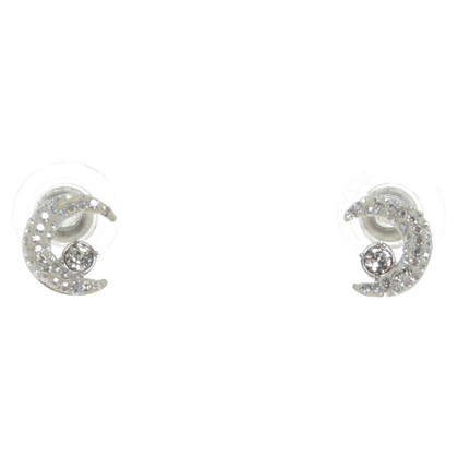 Swarovski Stud earrings in crescent shape