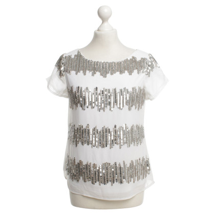 Guido Maria Kretschmer Sequins shirt in white / silver