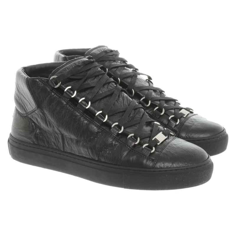 Balenciaga Trainers Leather in Black