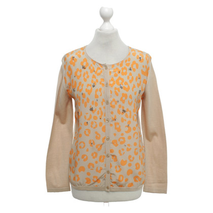Luisa Cerano Cardigan with leopard print