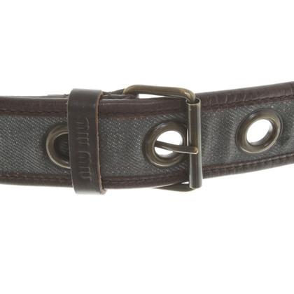 Miu Miu Cintura con grandi occhielli