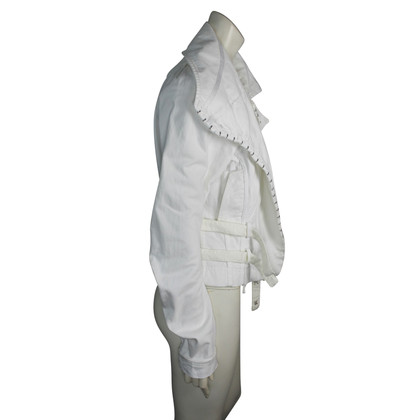 John Galliano denim manteau blanc