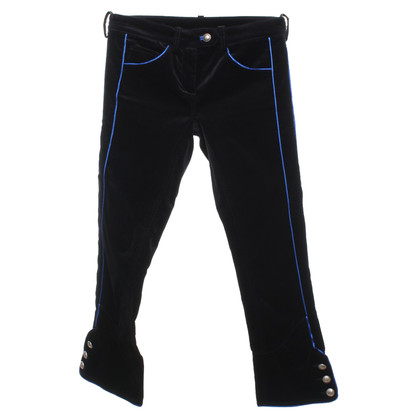 Isabel Marant Velvet trousers in black / blue