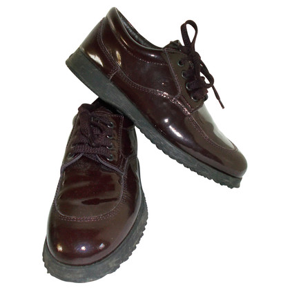 Hogan Patent leather lace-ups in burgundy